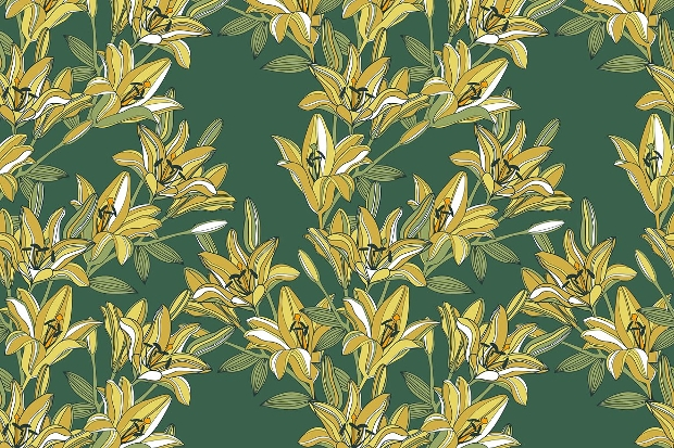 lilly flower pattern
