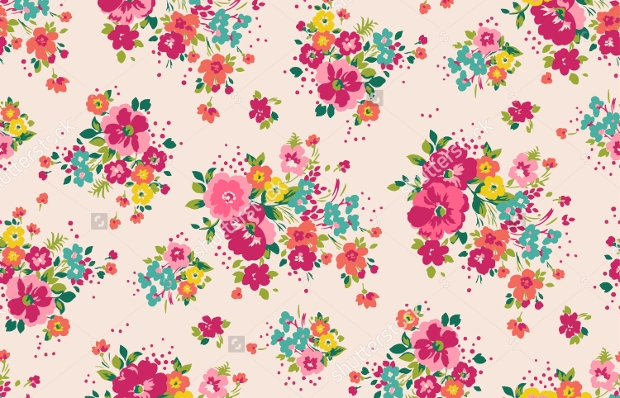 vintage tropical flower pattern
