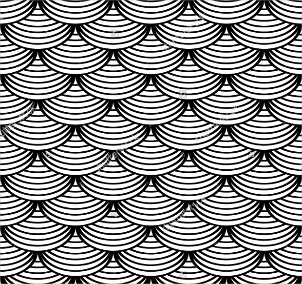 fish scale geometric pattern