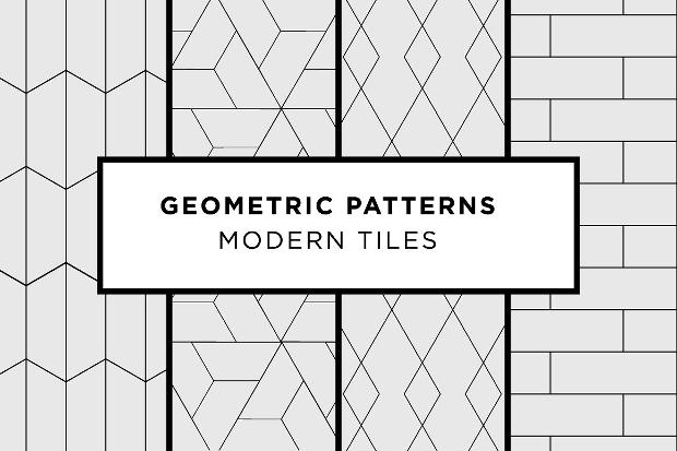 Modern Tiles Geometric Pattern