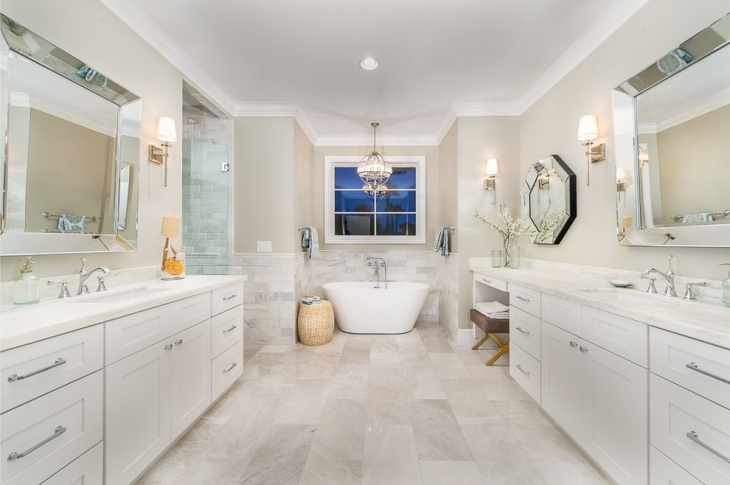 Travertine Bathroom Floor Design