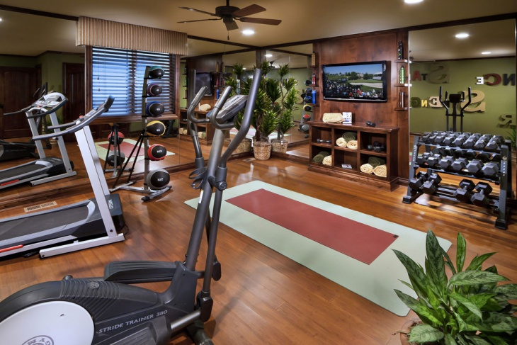 Basement Gym Flooring Design