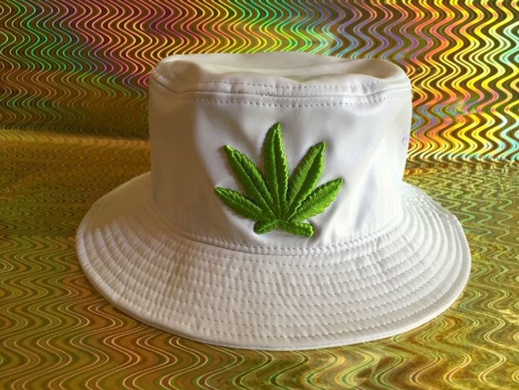 Mens White Bucket Hat Design