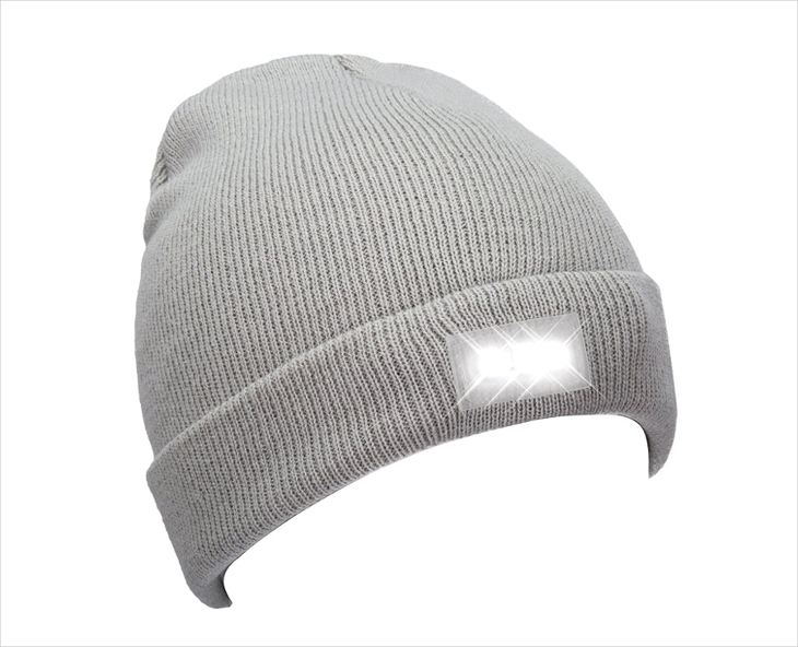 Mens Grey Beanie Hat Design