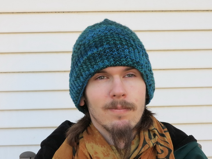 Designer Long Beanie Hat for Men