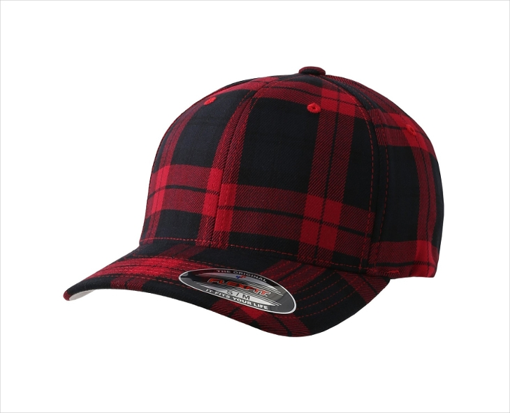 Red Plaid Hats for Men