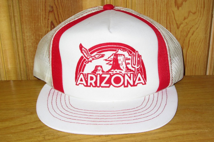 Mens White Trucker Hat Design