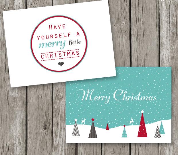 Printable Christmas Card Design