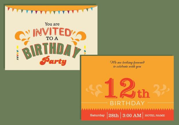 Birthday Invitation Card Design