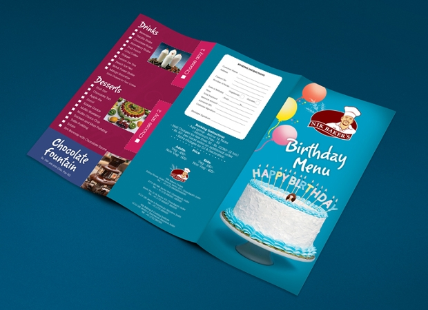 Birthday Menu Card Design