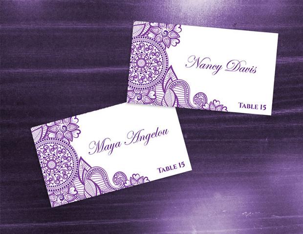 Wedding Name Card Design