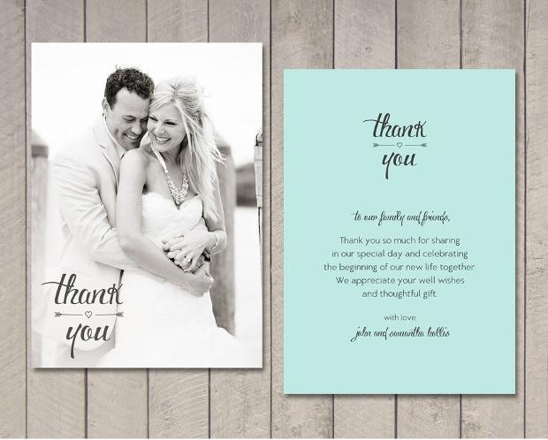 Wedding Thank You Card Design