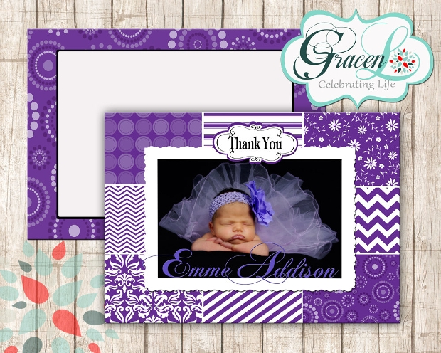 Baby Thank You Card Design