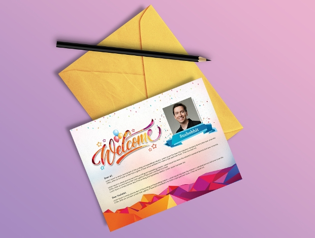 Welcome Greeting Card Template