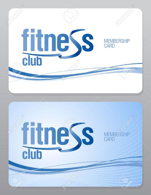 Fitness Membership Card Design