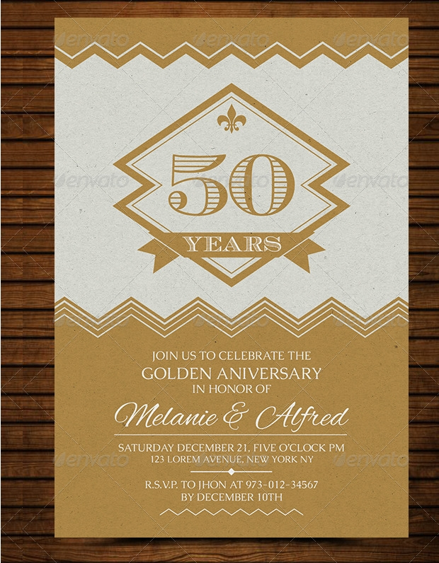 Wedding Anniversary Card Design