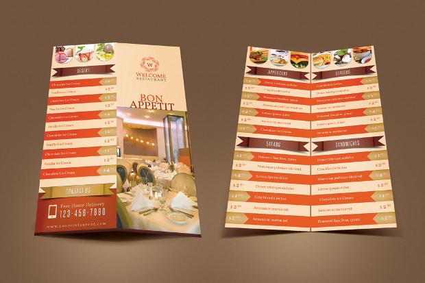 Restaurant's Menu Card Design