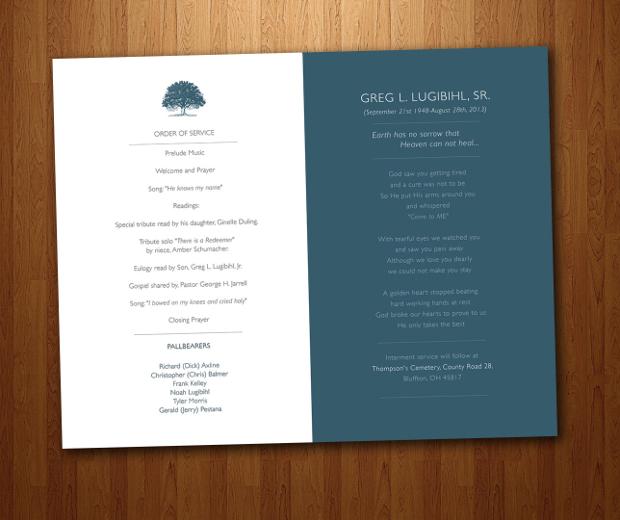 Funeral Service Card Design