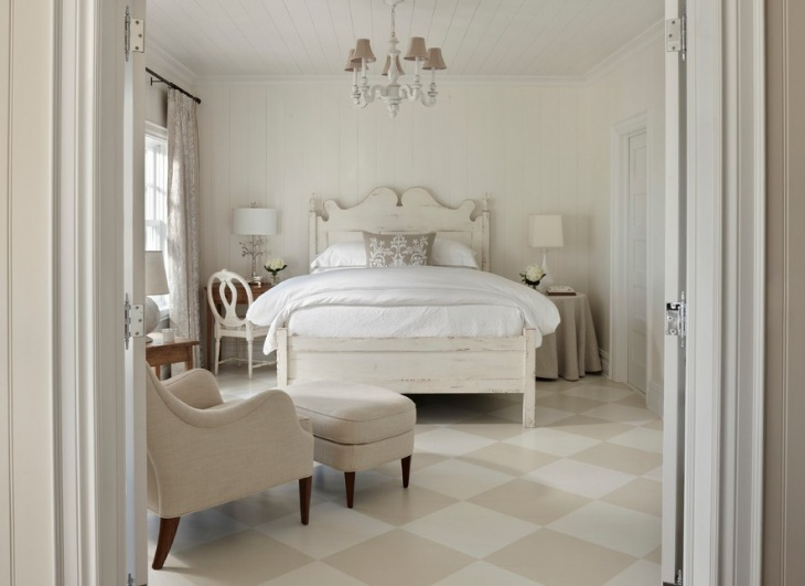 Bedroom Diamond Pattern Floor Design