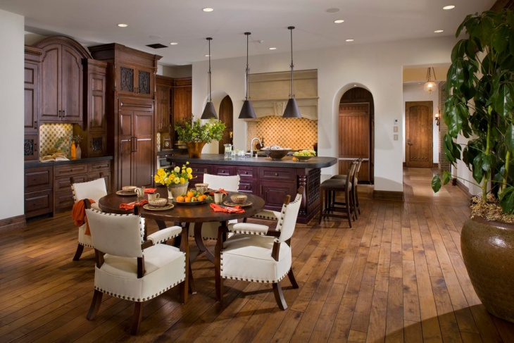 Dining Room Hardwood Floor Design