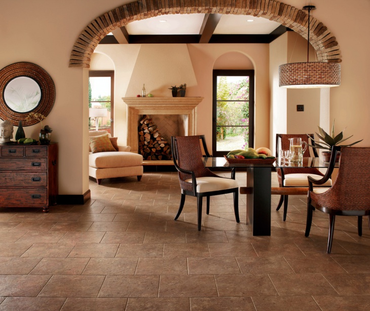 Dining Room Floor Tile Design