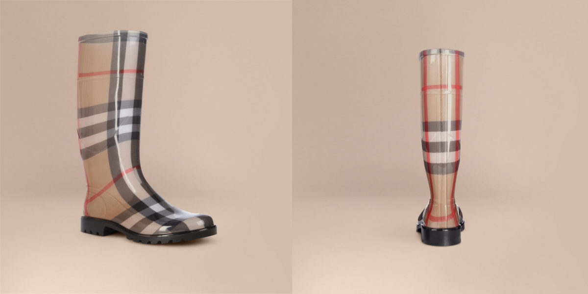burberry house check rain boots