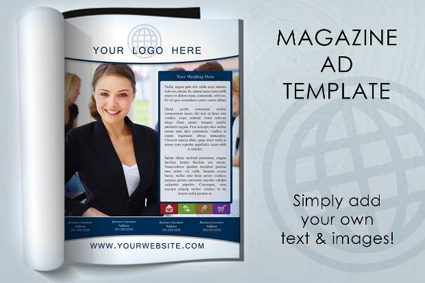 magazine advertising template design