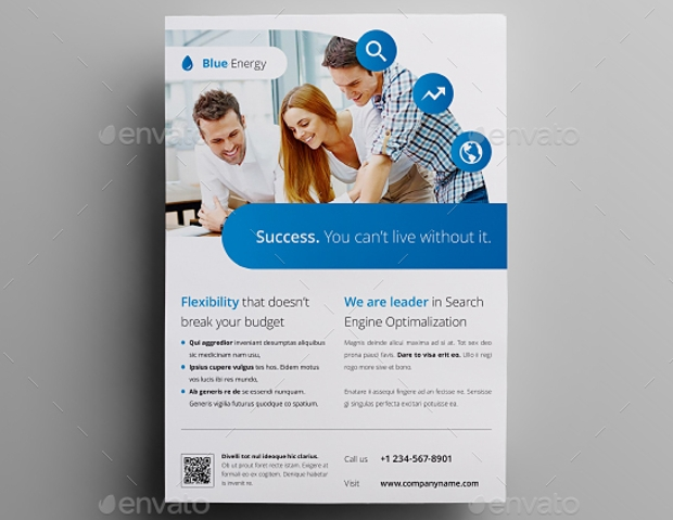 business advertising flyer