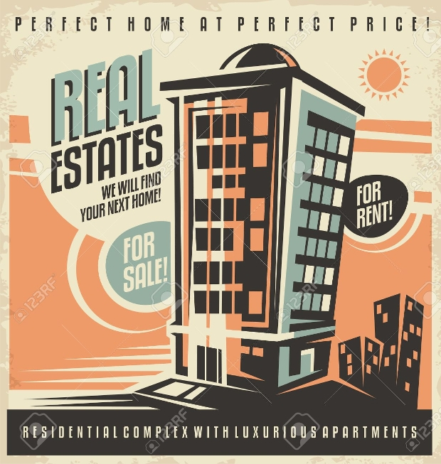 real estate vintage advertising design