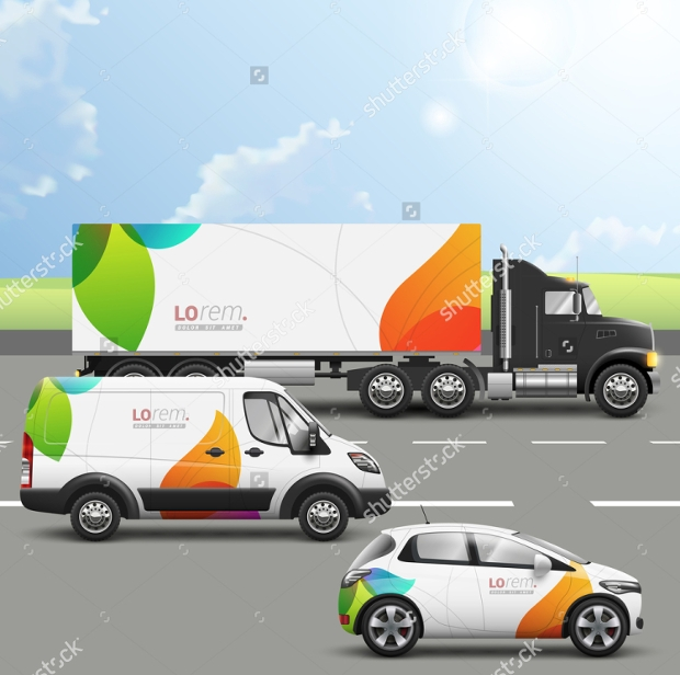 transport truck advertising