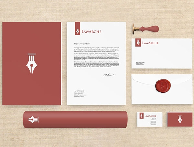 law office stationery design
