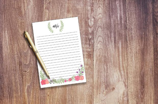 vintage floral letter stationery
