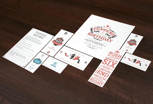 Printable Birthday Stationery Design
