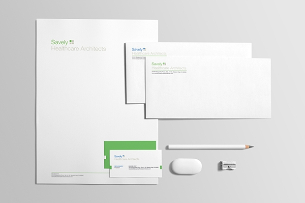 healthcare architecture stationery design