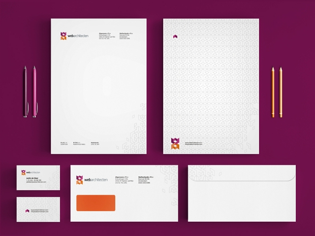 web architecture stationery design