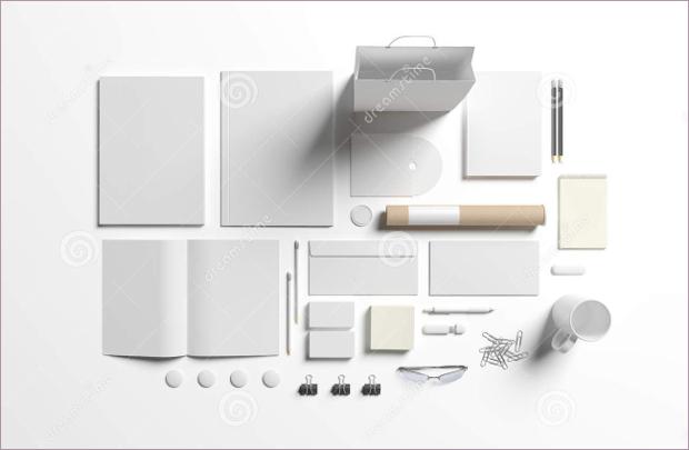 white blank stationery design