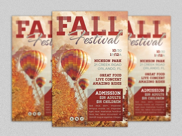 Fall Festival Event Flyer