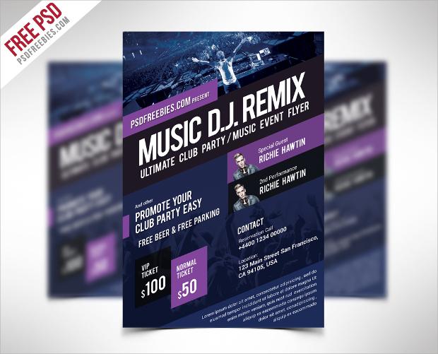 Music DJ Event Flyer