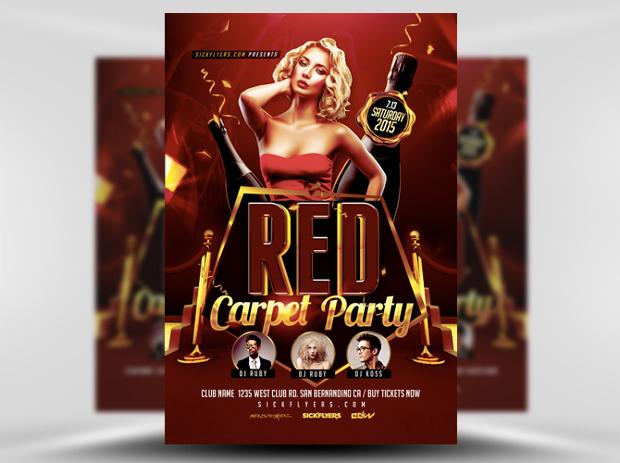 Red Carpet Event Flyer Design