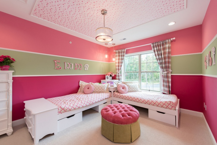 Small Shared Kids Room Design