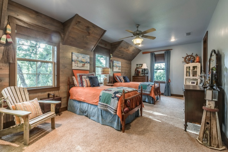 Rustic Shared Kids Room