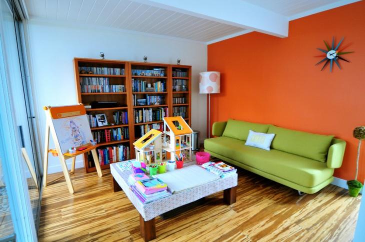 mid century modern kids room