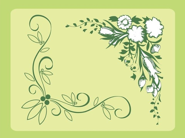 flower corner border design
