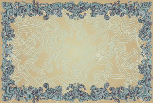 Floral Grunge Border Design