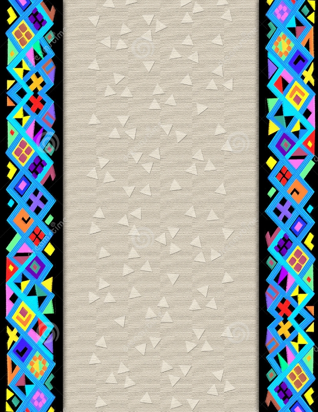 geometric folk art border