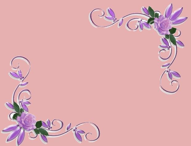 purple rose corner border design