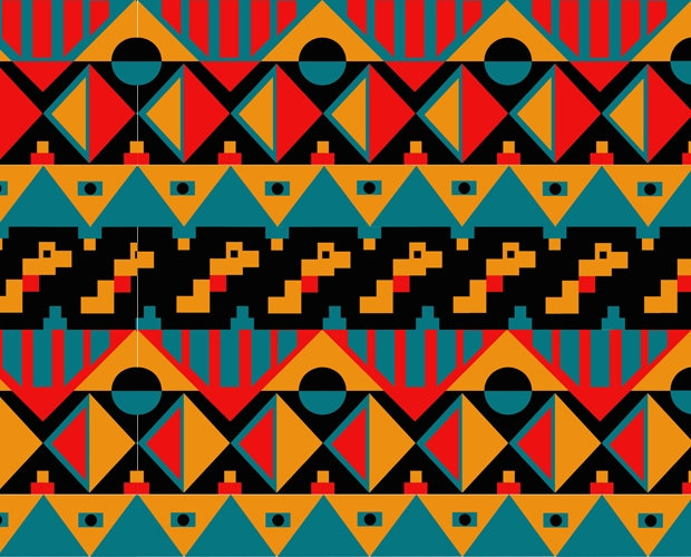 tribal pattern border