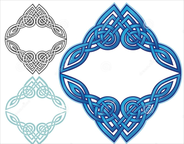 celtic knot border design