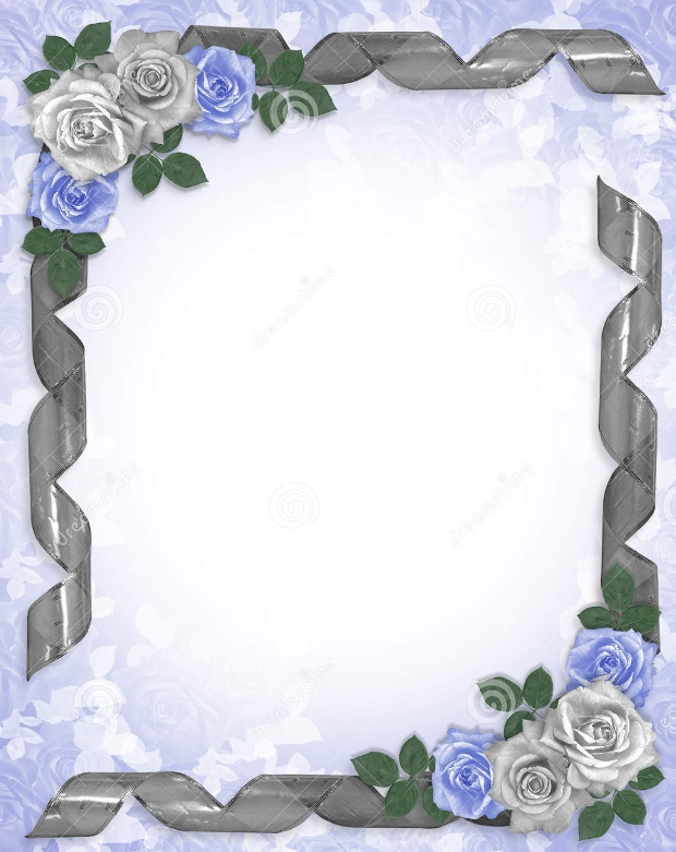 blue wedding border design
