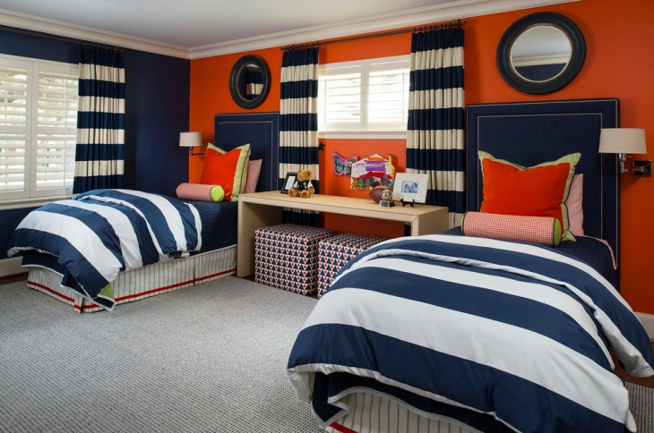 Colorful Twin Kids Room Design